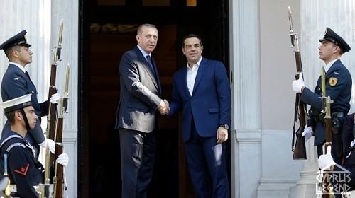Эрдоган и Ципрас обсуждают кипрскую проблему на встрече в Афинах