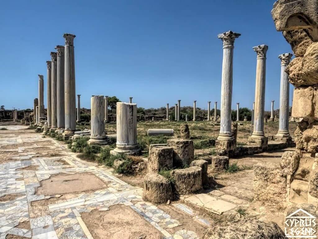 Античный город Саламин Северный Кипр